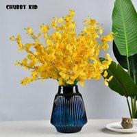 Echte touch 66 cm kurze latex oncidium hybridum gefälschte künstliche tanzen dame orchidee blumen großhandel tanzen-puppe orchideen