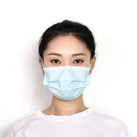 FedEx frete grátis 50 pcs / caixa de alta qualidade Máscaras de rosto descartável 3Layers cor azul anti-spray, máscaras anti-poeira