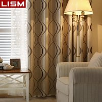 LISM Luxury Wavy Striped Curtains for Bedroom Window Living Room Thick Blackout Curtain Modern Kitchen Drapes Home Decoration