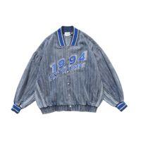 E-Baihui 2020 Fall Trend Fashion Cardigan Loose Men's Windbreaker, Plus Size Casual Retro Hip-hop Cotton Jacket EX-761