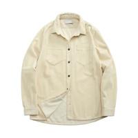 مصممون تي شيرت رجالي القطن الصوف قميص الخريف winterwarm العصرية الرجال معطف الصوف سترة الأوروبية والأمريكية أزياء العلامة التجارية