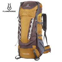 Sacs de plein air cheval de flamme montagne sac à dos 80L camping randonnée sac de voyage sac à dos de rucksack