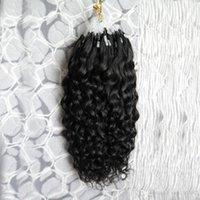 Mikroschleife Menschenhaarverlängerungen Micro Ring Haarperlen Erweiterungen Farbe 100g lockige Mikroschleife Ring Menschliche Haarverlängerungen 1g Strand 100g