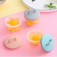 Home Kitchen Egg Steamer Non Stick Cup Boiled Eggs Mould 4 Pcs Set With Lid And Brush Household Supplies Hot Sale 8 8wd J2