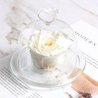 Forever Flower en cúpula de vidrio recibirá Eternal Real Rose actual El mejor aniversario de cumpleaños de Acción de Gracias, Día de San Valentín