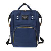 HBP 여성 배낭 패션 미라 출산 기저귀 가방 대용량 아기 가방 여행 배낭 디자이너 간호 가방 베이비 케어 딥 블루