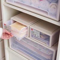 De plástico caja de almacenamiento Organizador del dormitorio del hogar de gran capacidad de ultramarinos Organizador Espesar cajón portátil de archivos de almacenamiento apilable Gabinete VT1868