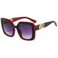 2021 جديد إمرأة مصمم النظارات الشمسية الأزياء الأحمر التدرج نظارات الشمس المتضخم ظلال الرجال خمر النظارات uv400 okulary