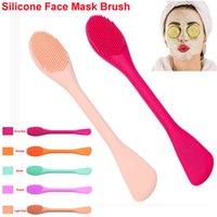 Doppel-Ended-Silikon-Gesicht Pinselapplikator Maske Gesichts Mud Bürste weiche Silikon-Gesichtsreiniger-Bürste-Verfassungs-Schönheits-Werkzeug-Schablonen-Creme Lotion