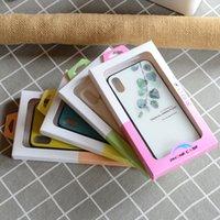 Caixa de embalagem de papel para o caso universal do caso do iPhone 12 pro com bandeja interna