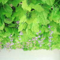 360 قطع النباتات الاصطناعية العنب جارلاند الخضر الروطان البلاستيك الكروم شنقا الحرير الخضراء ورقة حديقة الزفاف جدار ديكور