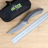Verde espinho poluchetkiy TC4 liga de titânio faca volume de negócios, lâmina D2, acampar faca de sobrevivência ao ar livre, faca de frutas prático, ferramenta EDC.