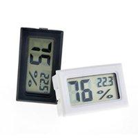جديد أسود / أبيض FY-11 مصغرة الرقمية LCD بيئة ميزان الحرارة الرطوبة الرطوبة متر في الغرفة ثلاجة الثلج