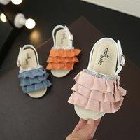 Shoe menina Sandals Leisure Time Mulher Criança Aceno Algas em crianças suave inferior Princesa Meninas Crianças Sandal
