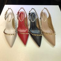 2021 Kadınlar Yüksek Topuklu Ayakkabı Elbise Ayakkabı Seksi Bayanlar Perçin Moda Kız Podyum Baskı Toka Plato Kadın Düğün Ayakkabı Kutusu Ile