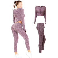 New Sexy Open Nevel Wavel Fitness Fitness Suit Tight Tight Quick Dry Hip Sollevamento con cappuccio con cappuccio Suit Yoga