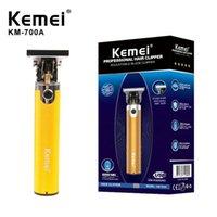 أصيلة kemei km-700a الحلاق متجر الشعر الكهربائية المقص المهنية آلة الشعر اللحية المتقلب أداة لاسلكية قابلة للشحن