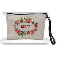 Cosmetic Bag di modo DIY di tela spesso pochette cerniera bagagli a trasferimento termico a sublimazione vuoto pianura Designers Borse Donne borsa D92408