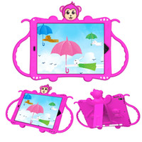 iPad case for Kids, 3D Monkey EVA Light Weight Shockproof Cov...