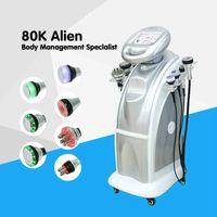 전문 80K + 40K 초음파 Cavitation 진공 다극 바디 얼굴 RF 냉동 초음파 웨이브 뷰티 슬리밍 기계