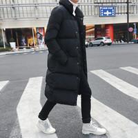 fz1970 외투 남성 슬림핏 롱 다운 자켓 코트 새로운 남성 캐주얼 겨울 다운 파카 남성 두꺼운 자켓