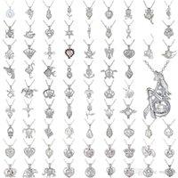 Perle Cage Halskette Liebe, wünschen echte Perle mit Oyster Perlen-Mix Design Mode hohle Locket Claviclekette Diffusor Halskette CHM0