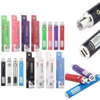 ECPOW UGO T2 batteria doppia porta di ricarica vape penna batteria 650mAh 900mAh e sigarette vape 510 filettatura vaporizzatore a tensione regolabile batteria