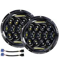 El más reciente viga de punto de la lámpara universal de 7 pulgadas Daymaker proyector LED Faro Indicador Sistema eléctrico Fit para las motocicletas Bulbos