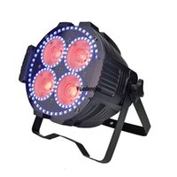 8 pieces home led par light halloween party 4 x 60w 4in1 dmx512 rgbw mini led cob par 64 light