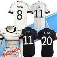 2020 유로 컵 Alemania 축구 유니폼 멀리 블랙 험멜 Kroos 축구 셔츠 20 21 Draxler Reus Muller Gotze 남성 여성 키트 키트
