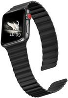 [Für Apple Watch SE Serie 6 5 4] Strap für Apple-Uhrenarmband 40mm 44mm Lederband, einstellbare Schlaufenband mit starkem Magnetverschluss