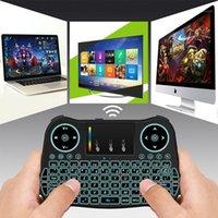 Tastiere Blacklight 2.4 GHz RF Portatile Mini tastiera wireless versione inglese con touchpad Mouse per Smart TV Raspberry Pi 3 PC1