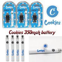 USA Stock Beater Precio Cookies 350mAh Batería 510 Hilo Vape Cartuchos Vaporizador Voltaje Variable Voltaje E CIG Pluma de cookie con cargador USB Alta Calidad