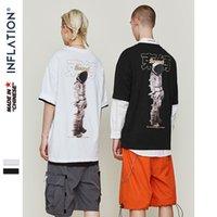 Инфляция O-образным вырезом Hip Hop Tshirt Men Summer Tshirt Пара Tshirt Harajuku Streetwear Tee Shirt Хлопок Hiphop Топ Tee 9146s Y200930