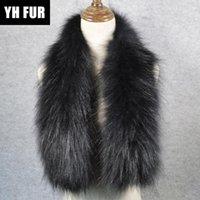 Vente Hot Style de luxe Qualité Les vraies femmes d'écharpe de fourrure douce et chaude en tricot Fourrure véritable Shawl Wrap Echarpes anneau naturel