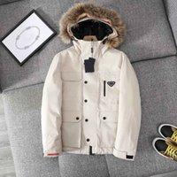 Fahison мужская одежда 21aw Enterweak Щеда Вышивка дизайнеры Распечатать пальто Высокое качество Parkas 2 Размер цвета: M-3XL