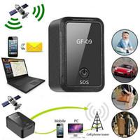 GF-09 mini perseguidor del GPS aplicación de control remoto de control antirrobo dispositivo GSM GPRS Localizador de grabación magnética alejada de la voz de recogida Tracker GPS