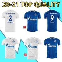 20 21 جديد FC Schalke 04 Soccer Jersey Bentaleb 2019 2020 Schalke Caligiuri كرة القدم قميص Kutucu Burgstaller McKennie Football Commet
