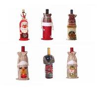 Noel Süslemeleri Noel Baba Şarap Şişesi Kapak Kardan Adam Çorap Hediye Paketleme Sahipleri Noel Navidad Yeni Yıl Dekor Malzemeleri1