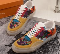 Highest quality Real leather Sneakers men shoes women chauss...