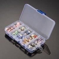 Beads de cerámica Boxed DIY Beads de porcelana con cuentas Materiales de joyería Espaciador Redondo Perlas sueltas Haciendo accesorios de bricolaje