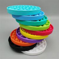 Round Coll Cycle Push Pop Bubble Poppers Toys Sensosory Fidget Popit сжимает шарики пузырьки головоломки доска стресса рельеф противоречие Антистресс Squishy Squeezy Finger Fun Your Toys Ly10184