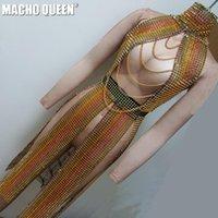 무대 착용 홀로그램 여름 뮤지컬 축제 rave outtfits 기어 의류 드래그 퀸 의상 가수 Dance1