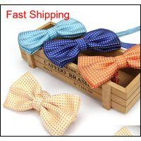 2019 yeni sonbahar stil erkek bowties nokta papyon kadın erkekler için düğün boyunbağı kelebek kravat gravata f Qylymh homes2007