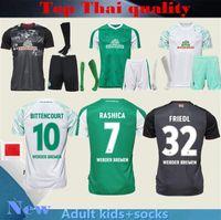 Hommes enfants + chaussette 20 21 SV Werder Bremen city maillots de football 2020 2021 FRIEDL KLAASSEN SELKE RASHICA BARTELS Werder Bremen domicile maillots de football