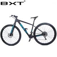 """BXT 29 дюйма углеродного волокна горный велосипед 1 * 11 скорость двойной дисковый тормоз 29 """"MTB Men Bicycle 29ER колесо S / M / L Contract Complete Bike1"""