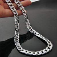 Mode bijou en acier inoxydable collier collier hommes colliers femmes collier chaînes hommes colliers de chaînes de luxe