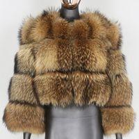 furbelieve 천연 너구리 모피 겨울 자켓 여성 큰 솜털 진짜 모피 코트 두꺼운 따뜻한 겉옷 streetwear 이동식 조끼 201207