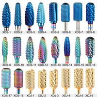 28 Tipi Taglierine in metallo in carburo di tungsteno per macchine per unghie elettrico per nail pratica manicure Pedicure Pedicure Bit Polishing Tool XDS / XDJ