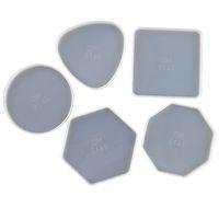 DIY Epoksi Reçine Silikon Kalıpları Bırak Tutkal Kristal Yuvarlak Kare Üçgen Altıgen Sekizgen Geometri Kalıp Kupası Mat Tepsi Craft Aracı 3 8QZ M2